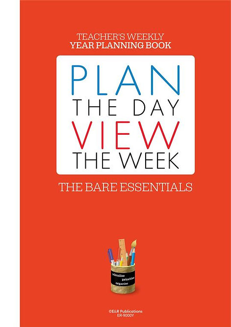 Teachers Weekly Bare Essentials Planner