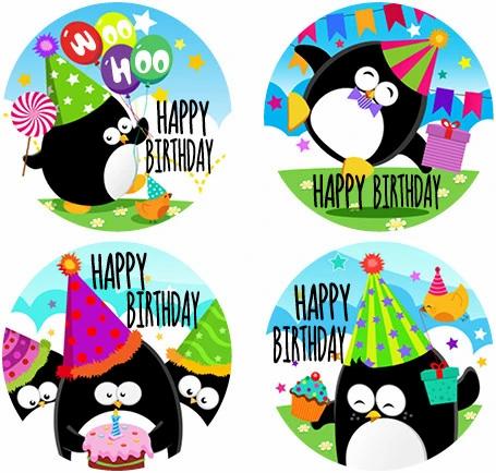 Discovery Award Stickers Happy Birthday