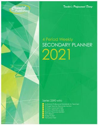 Createl Secondary 4 Period Weekly Planner