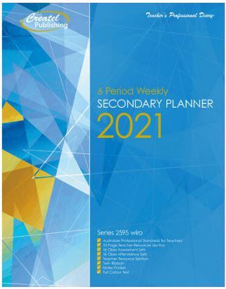 Createl Secondary 6 Period Weekly Planner 2021