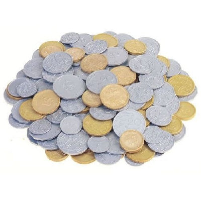 Money 180 Coins in Container