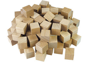 Wooden Counting Cubes Natural