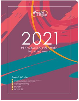 Createl Secondary Performance Weekly Planner 2021
