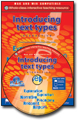 Introducing Text Types Interactive CD