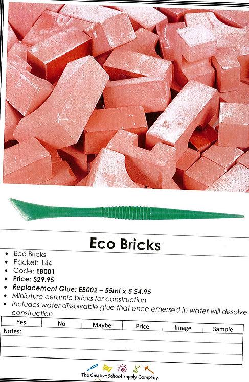 Eco Bricks - 144pk + water dissolvable glue