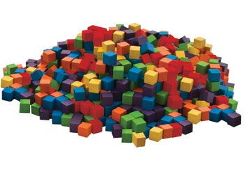 Coloured Wooden Counting Cubes