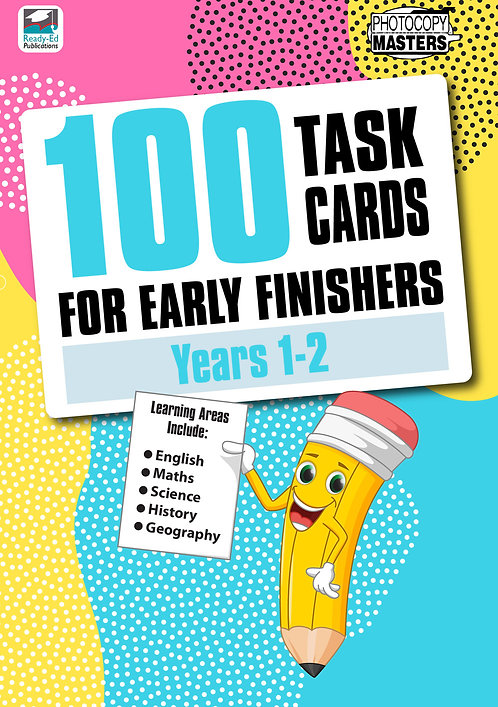 100 Task Cards for Early Finishers