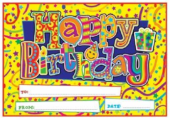 Birthday Certificates (Sunshine)