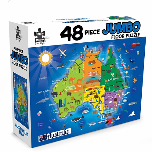 Jumbo Floor Puzzle Map of Australia