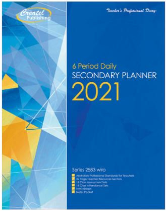 Createl Secondary 6 Period Daily Planner 2021