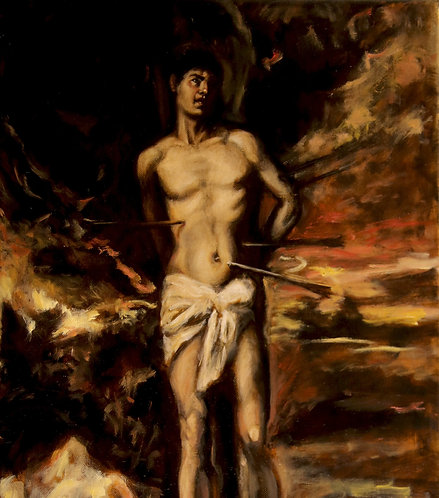 St Sebastian after Titian