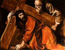 Old Master Copy Christ Carrying the Cross by Titian 30x40 cm available