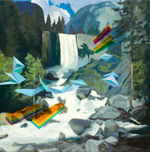 Waterfall 2013 oil on canvas 101x101cm sold