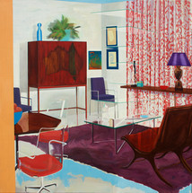 Interior with Glass 2014 oil on linen 101x101cm sold