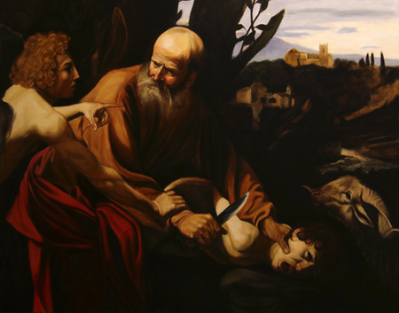 Old Master Copy The Sacrifice of Isaac by Caravaggio 90x120 available