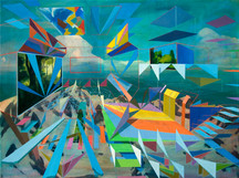 First Ascent 2012 oil on linen 76x101cm