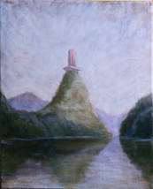 Still Lake 40x30cm oil on canvas available