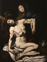 Old Master Copy Pieta by Daniele Crespe oil on canvas 101x76cm Framed available