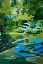Garden 2012 oil on linen 90x60cm sold