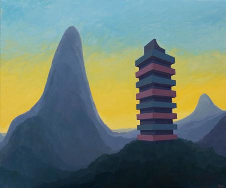 Tower 2016 oil on linen 50x60cm sold