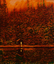 Winter Fire oil on canvas 60x50cm SOLD