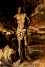 Old Master Copy St Sebastian by Titian oil on linen 35x25 cm available