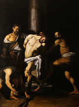 Old Master Copy Christ at the column by Caravaggio oil on canvas 150x120cm available