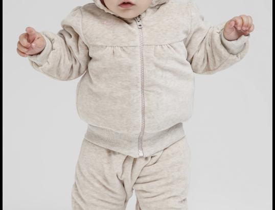 Детский демисезонный комбинезон из велюра