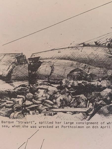 The wrecking of The Stuart, April 6th 1901 at Porth Tŷ Mawr (Porth Wisgi)
