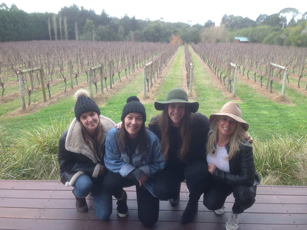 A girls weekend away with Wine Time Tours Mornington Peninsula.
