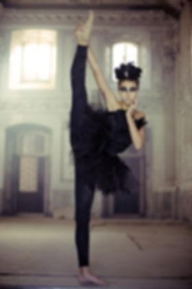 Danseur de ballet en noir