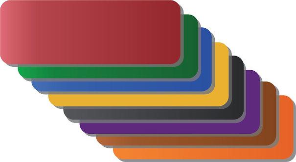 Placas coloridas para identificação de contêiner
