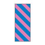 Fita colorida em folha, listras diagonais com fundo azul