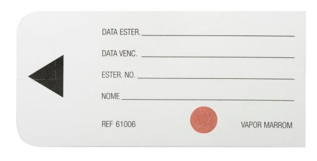 Etiqueta de identificação, com indicador de vapor