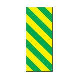 Fita colorida em folha, listras diagonais com fundo amarelo