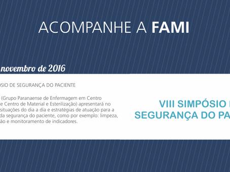 FAMI NO VIII SIMPÓSIO DE SEGURANÇA DO PACIENTE