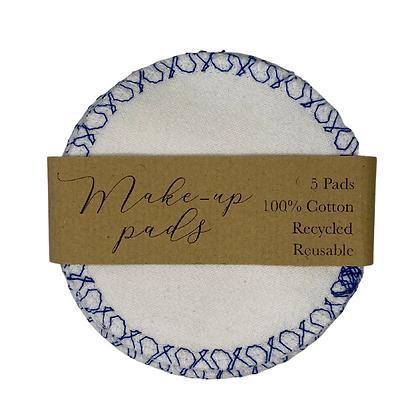 Blue Stitch Pattern Cotton Pads
