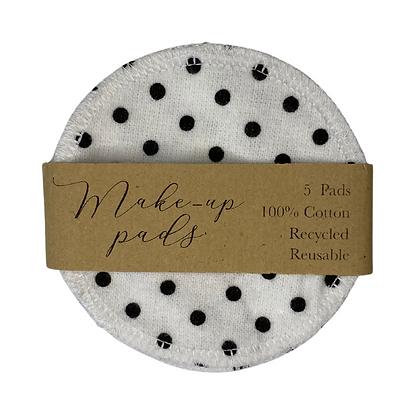 Polka Dot Pattern Cotton Pads