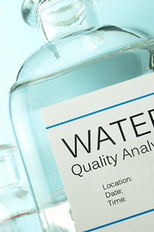 Water testing.  Water quality in your home.