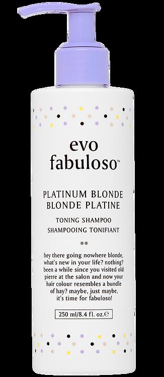 Evo Fabuloso Platinum Toning Shampoo - 250ml