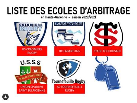 USSS - Comité 31 Rugby : ÉCOLES D'ARBITRAGE