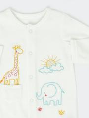 Nursery Velour Sleepsuit