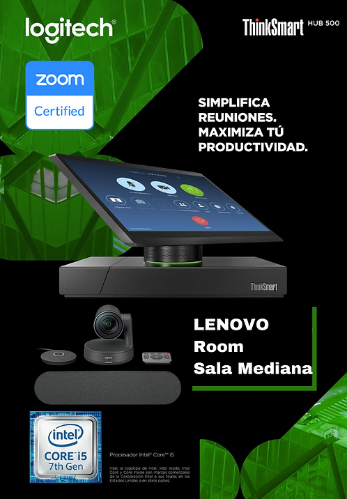Lenovo Sala Mediana (Smart Hub 500 + Rally Family )Zoom Room
