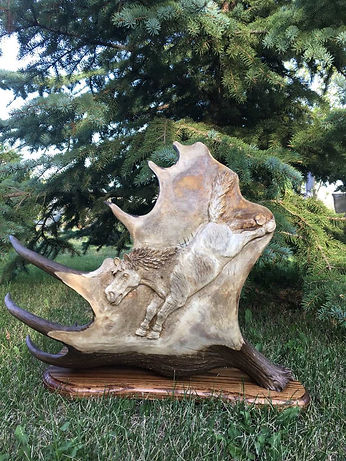 MJ carved award left antler.jpg