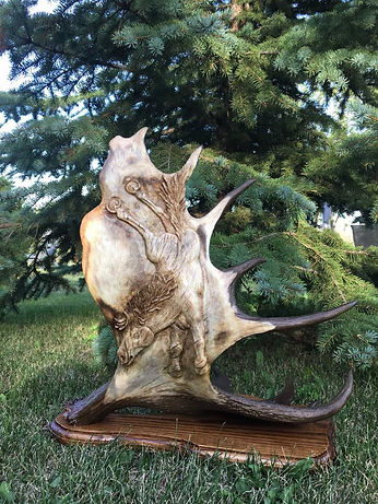 MJ carved award right antler.jpg