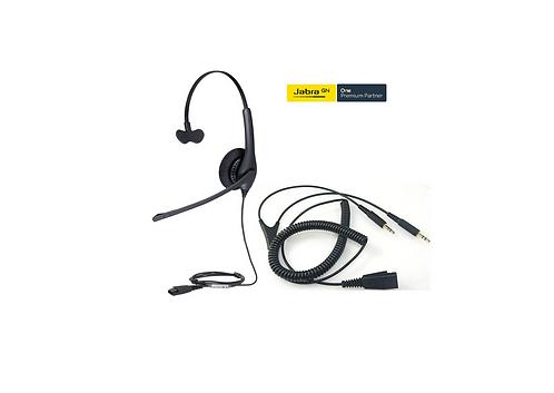Combo Jabra BIZ 1100 Mono QD + Adaptador Jabra QD to Dual 3.5mm