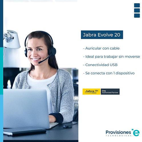 Jabra Headset Evolve 20 UC