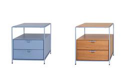 Mesa de cabeceira Tum com duas gavetas