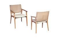 Cadeira Lívia com braço e palha