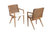 Cadeira Estrela com braço e palha
